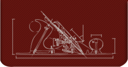 An illustration of an old-fashioned wood-turning lathe.